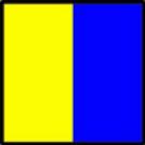 "Nautical signal flag ""K"""